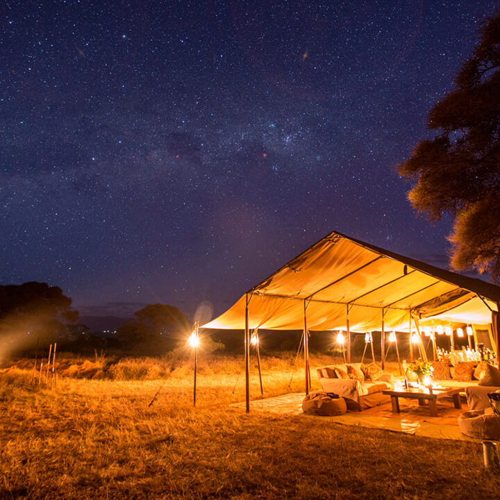 Luxury Private Camping