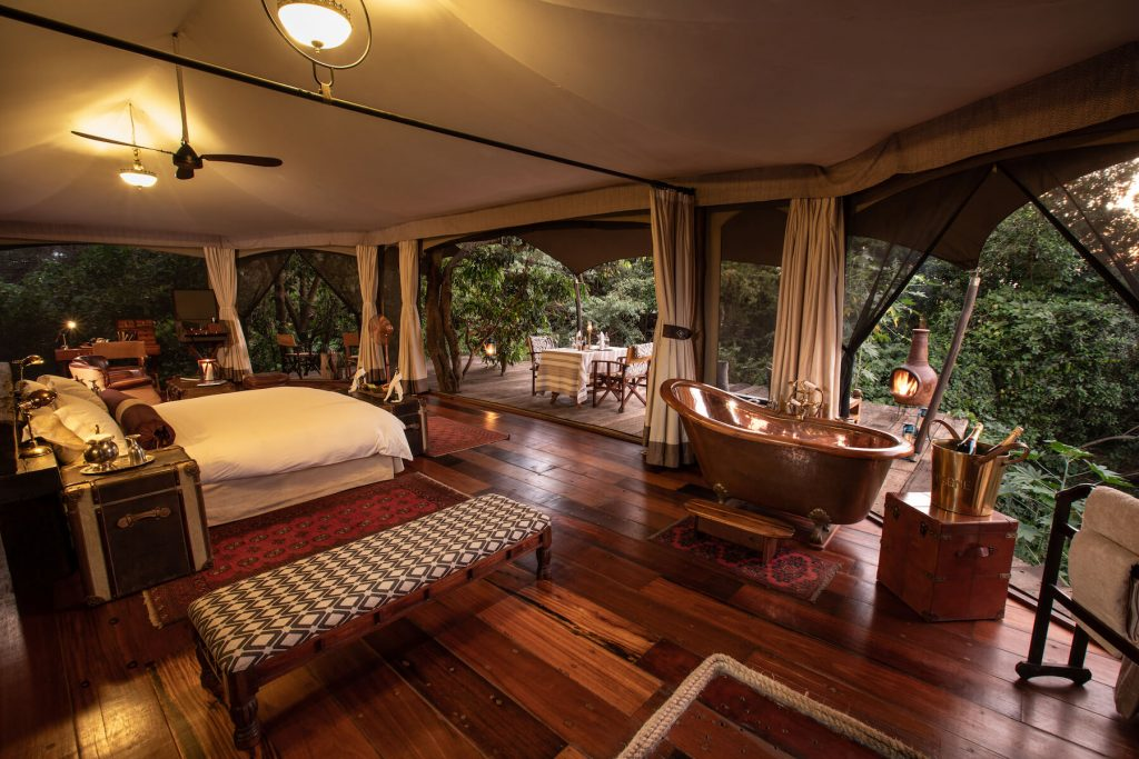 Number two in Kenya, small, luxury tented camp on the Mara Plains