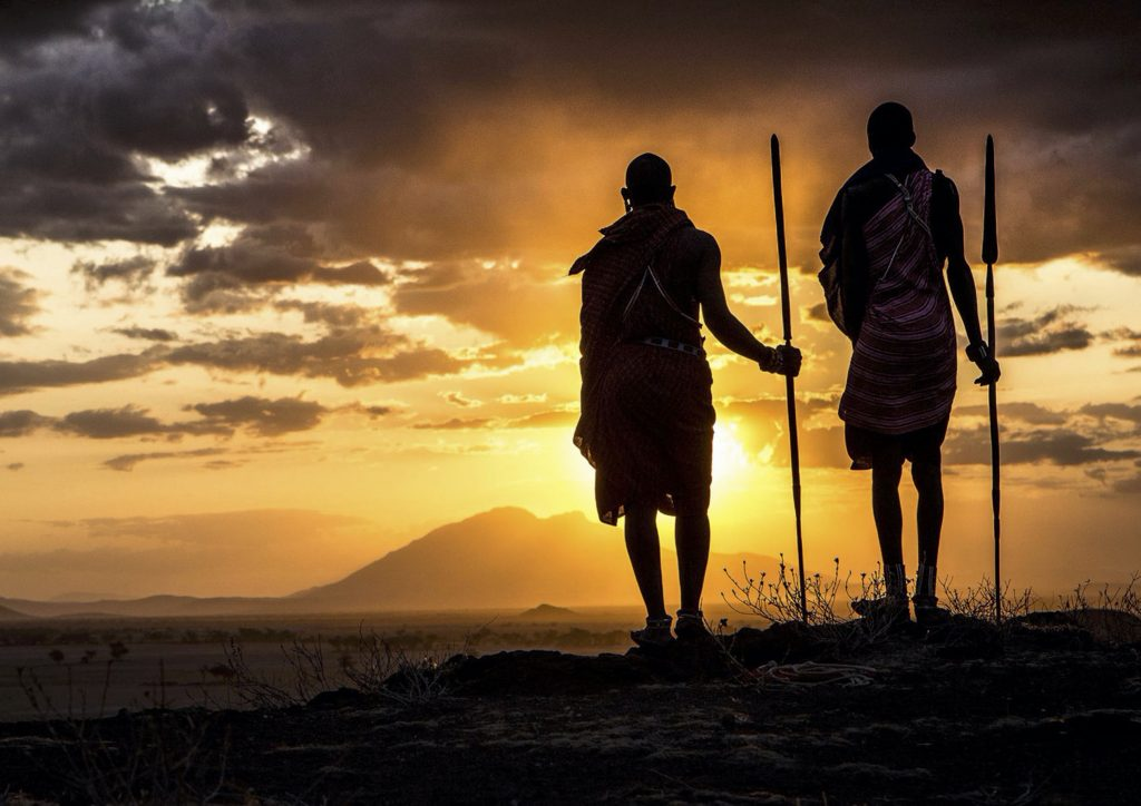 Africa Born Masai Sunset